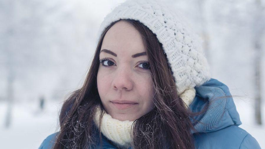 Arkhangel'sk Portrait Girl Russia Winter Color Portrait Nikon