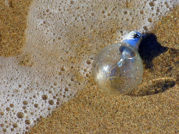 Close-up Contaminated Nature Contaminated Water Contamination Day Light Bulb No People Object Outdoors Residue Things That The Sea Brings Back To The Beach