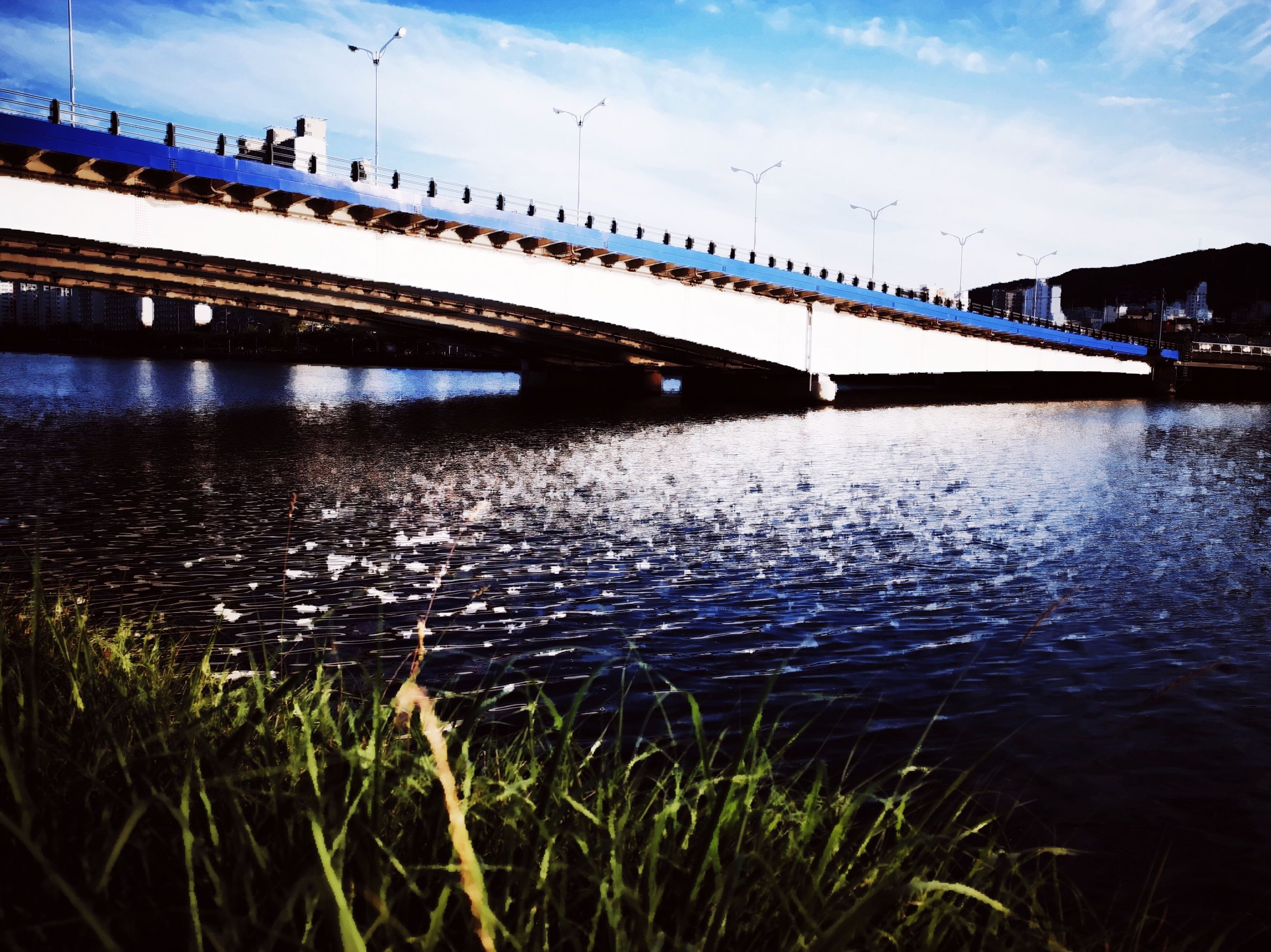 water, connection, bridge, river, architecture, transportation, bridge - man made structure, built structure, sky, nature, reflection, no people, outdoors, cloud - sky, waterfront, motion, mode of transportation, day
