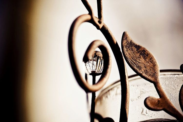 Close-up of wrought iron