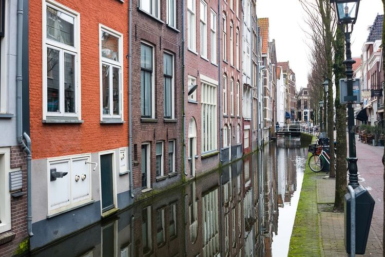 Architecture Building Exterior City Built Structure City Life Transportation Window Outdoors Day No People Delft Old Town The Netherlands Monument My Favorite Picture  The Week Of Eyeem Canal Canals Historical Building City Architecture Peace