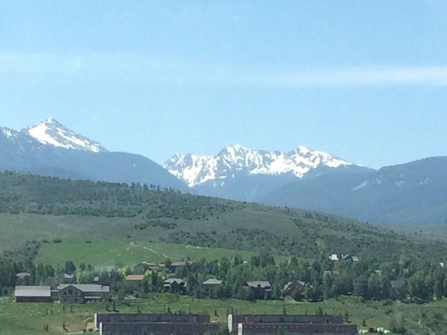 Last Bit Of Snow Mountain Valley Colorado Rocky Mountains