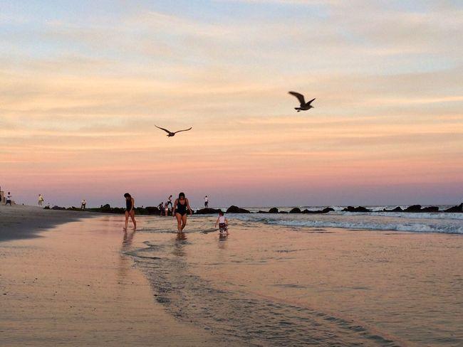 Sunset At Long Beach, NY Sunset #sun #clouds #skylovers #sky #nature #beautifulinnature #naturalbeauty #photography #landscape Visualmagic EyeEm Best Shots