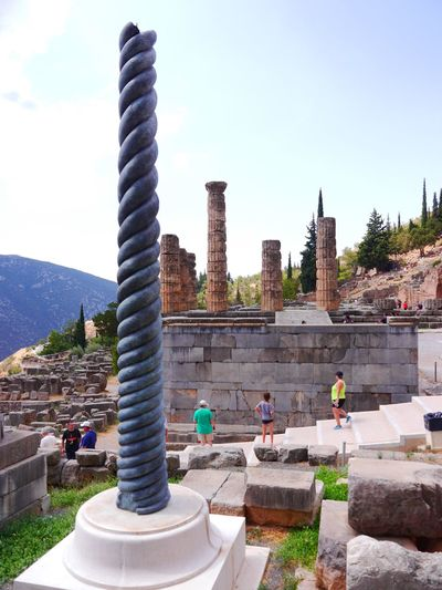 Delphi Day Outdoors Clear Sky Travel Destinations Water Nature Summertime Live For The Story The Architect - 2017 EyeEm Awards The Photojournalist - 2017 EyeEm Awards EyeEm Selects The Week On EyeEm I celebrated my 30th birthday in Greece and tug along a friend with the condition that I will be the one who will lmake the itinerary. So I did. DIY itinerary. Budget Traveller Your Ticket To Europe Been There. Done That. Oracle Lost In The Landscape An Eye For Travel