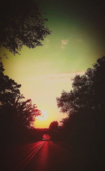 Sunset Sky Road No People Backgrounds Outdoors Nature Outdoors❤ Madison Wisconsin Amazing Beauty Narrow Life Hard Persevere