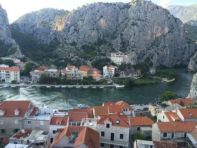 Water Mountain City Omis Croatia