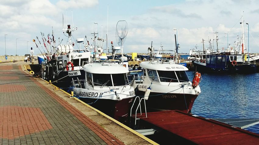 Nautical Vessel Transportation Sky Moored Water Fishing Boat Ship Smack Sea Boats⛵️ Harbour Poland 💗 Statki Port Docks Wladyslawowo Władysławowo Kuter łódka Harbor Boats Harbor Streetphotography Outdoors Polska Poland