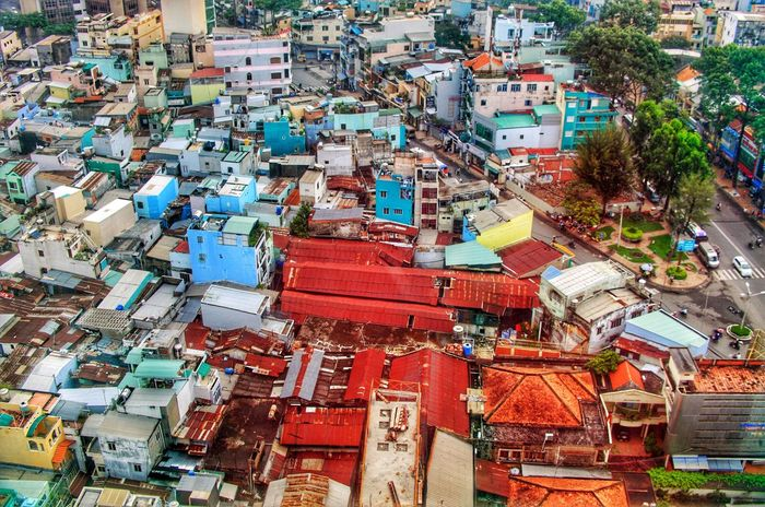 Saigon, Ho chi Minh City, Vietnam High Angle View Outdoors Architecture Building Exterior No People Day Cityscape City Vietnam The World In My Eyes Ho Chi Minh City Saigon Weltblick Eye4photography  Travel Photography The World In My Sight From My Point Of View Cityscape City