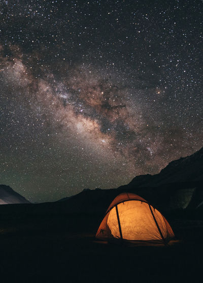 night camping in himalayas, India India Night Lights Spiti Valley India Adventure Astronomy Beauty In Nature Camping Galaxy Himalaya Land Landscape Milky Way Mountain Nature Night No People Outdoors Sky Space Star Star - Space Star Field Tent Tranquil Scene Tranquility