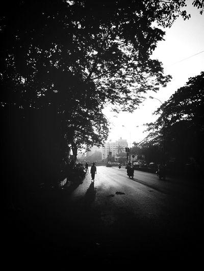 walk . KCe Silhouette Black & White Lone Walker