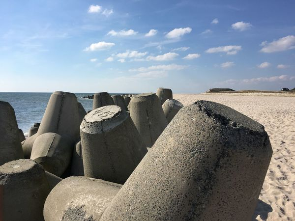 Coastal Feature Coastline Protection Sea Sky Nature Day Sand Beach Sunlight Water Tranquility Horizon Over Water Outdoors Scenics No People Beauty In Nature Erosion Sylt, Germany
