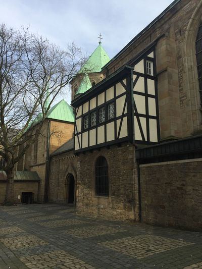 Architecture Built Structure Building Exterior Sky Outdoors Bare Tree No People Day Place Of Worship Tree Stadtessen Germany Road City