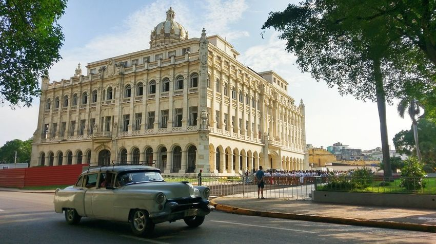 Cuba Architecture Travel Destinations History Built Structure Building Exterior Government Politics And Government Havana Vieja Havanasphoto Havana, Cuba Architectural Column Large Group Of People Panoramic Architecture Tranquility Catedral