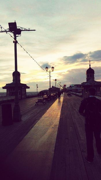 Outdoors Sunset Blackpool Blackpool North Pier Travel Destinations Sky First Eyeem Photo