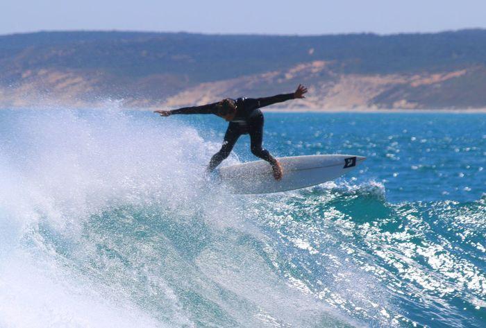 Adventure Beach Enjoyment Extreme Sports Focus On Foreground Fun Leisure Activity Lifestyles Motion Power In Nature RISK Sea Skill  Speed Splashing Sport Spray Spraying Surf Surfboard Surfer Surfing Water Water Sport Wave