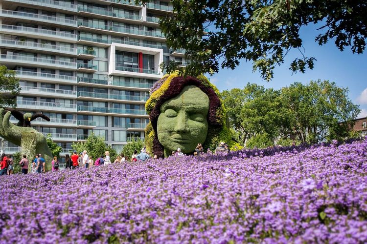 Growth Day Flower Statue No People Built Structure Outdoors Nature Sculpture Architecture Beauty In Nature Building Exterior Close-up Parc Jacques Cartier Ottawa Canada