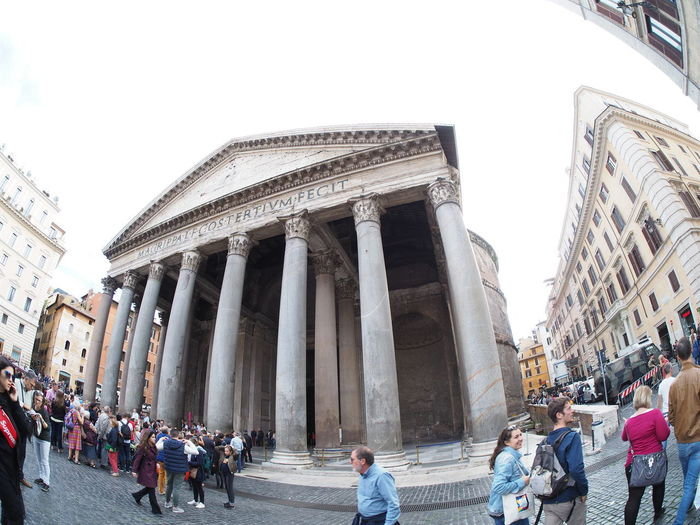 Pantheon Roma Rome Adult Ancient Ancient Civilization Architectural Column Architecture Building Exterior Built Structure Clear Sky Day History Large Group Of People Leisure Activity Lifestyles Men Outdoors People Real People Sky Tourism Travel Travel Destinations Women