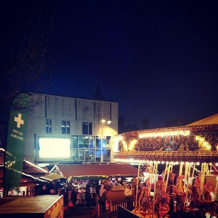 Holiday's season in Leeds @ German Christmas Market :) Holidays Leeds GermanChristmasMarket Christmas joy lights evening excited