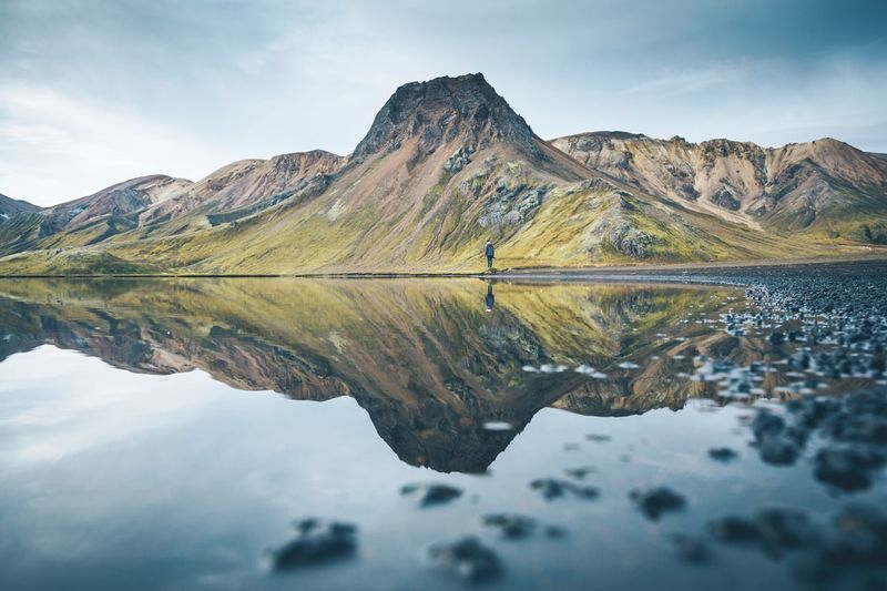 All good things are wild & free. Mountain Reflection Tranquil Scene Scenics Lake Mountain Range Water Sky Nature Beauty In Nature Tranquility No People Day Outdoors Waterfront Landscape Iceland