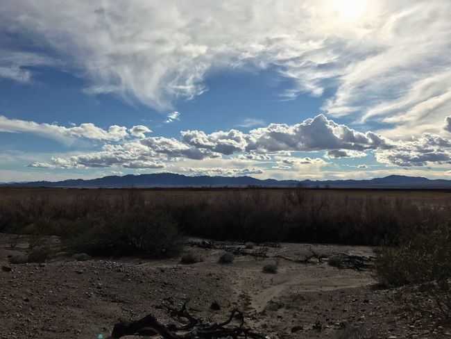 Nature Scenics Tranquility Landscape Tranquil Scene Sky Cloud - Sky Beauty In Nature Non-urban Scene Day Desert Arid Climate Geology Outdoors Physical Geography Remote Idyllic No People Extreme Terrain Mountain Colorado River Route 66 EyeEm Nature Lover Betterlandscapes