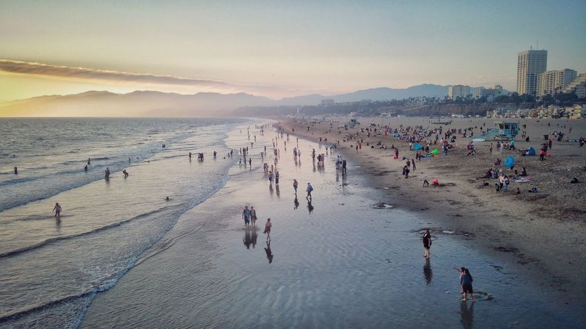 Santa Monica Beach Santa Monica Santa Monica, California Santa Monica California L.A. Los Angeles, California USA Travel Photography Travelphotography My Year My View Summer ☀ Sunset EyeEm Best Shots Beach Beachphotography Beach Photography Beach Sunset