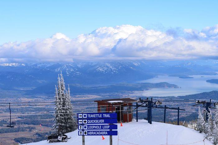 Lake View Lake Pend Oreille Schweitzer Mountain North Idaho Scenery Mountains Lake Winter Snow Skiing Sandpoint