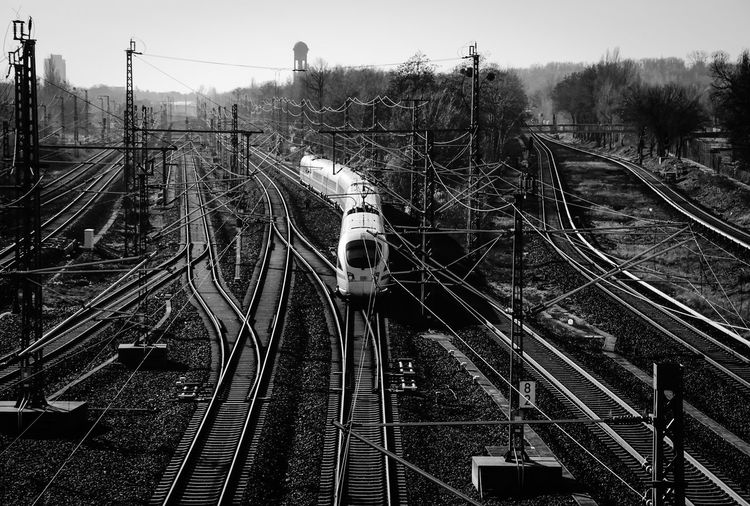 on track ... Berlin Black & White Blackandwhite Cityscape Cityscapes Composition Connection Diminishing Perspective High Angle View Long Perspective Public Transportation Rail Transportation Railroad Track Railway Track Schienen Schönenberg Showcase: February Straight Train Transportation Travel Urban Urban Landscape Zug