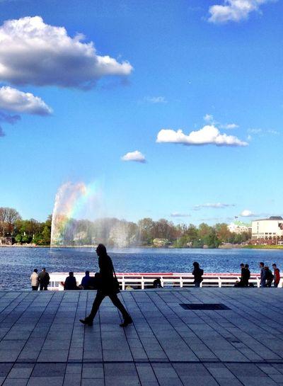 Rainbow Hamburg TheMinimals (less Edit Juxt Photography) Enjoying The View
