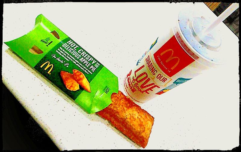Hot And Cold Snack Time! Snax Unhealthy Eating Text&symbols Text&images WesternScript Text At McDonald's HOT APPLE PIE Fast Food Yumm-a-licious I'm Lovin' It ® Macca's Mc Donald's Maccas Apple Pie Snack The Golden Arches I'm Lovin' It Golden Arches Macdonalds Mcdonalds McDonald's Western Script