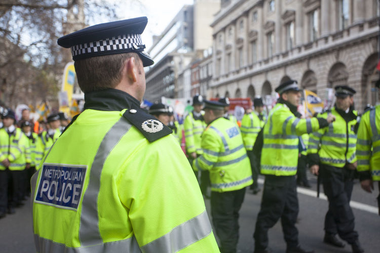 Policemen On City Street