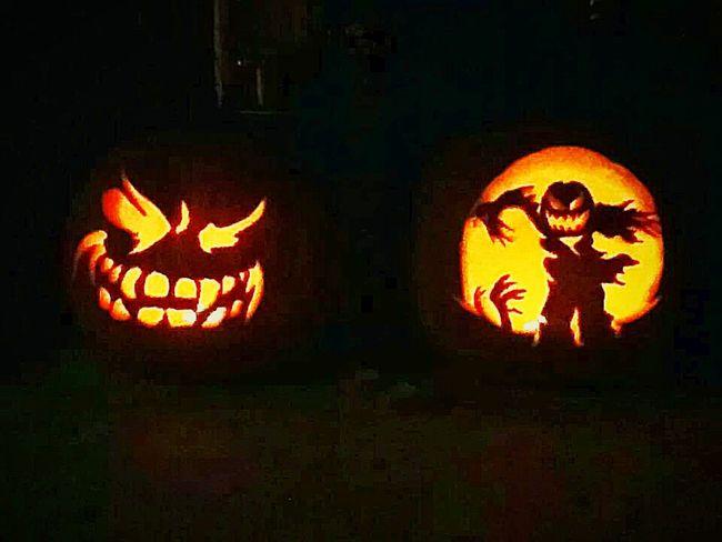 halloween faces autumn light Halloween Pumpkins Halloweennight Halloween🎃