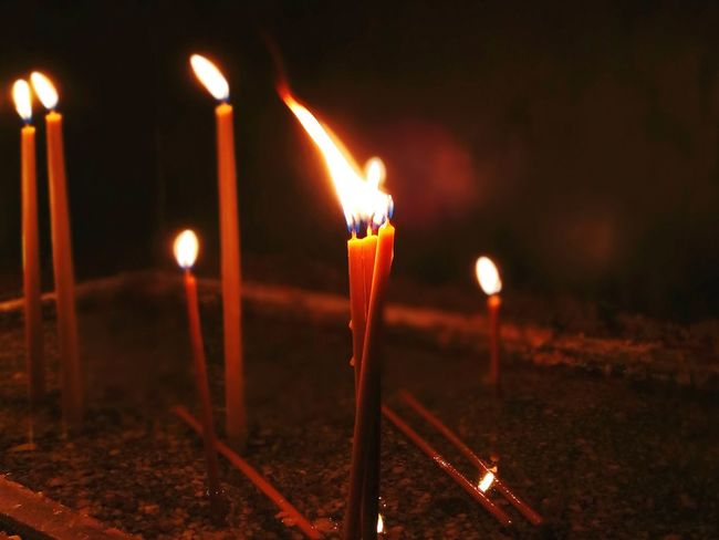 Candles Burning Flame Candle Church Orthodox Church Orthodox Serbia Niš First Eyeem Photo