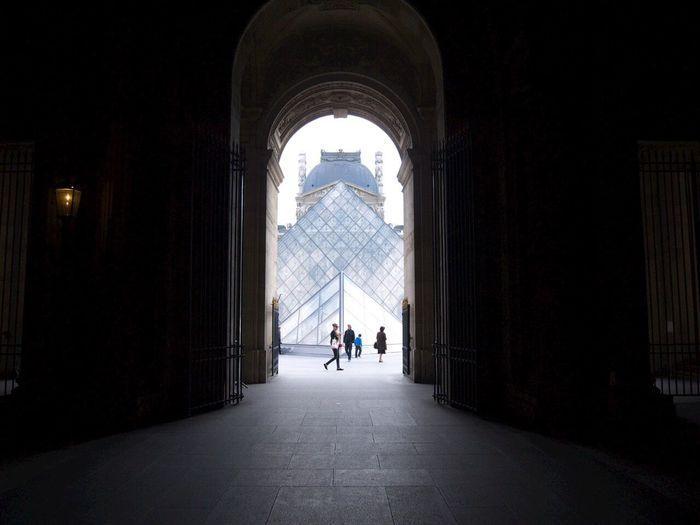 Paris, France  Louvre Shadows & Lights