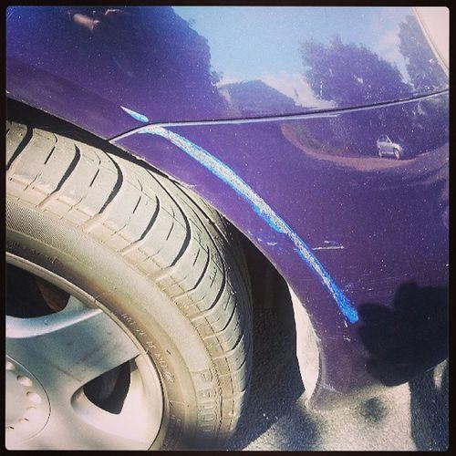 My poor car :( Scratch Fixthis Haltoncouncil Mofoers Beetle Volkswagen SadTimes