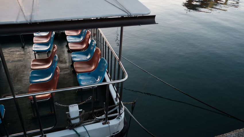 Ship Nautical Vessel Water Transportation Mode Of Transport High Angle View Day Outdoors Sea