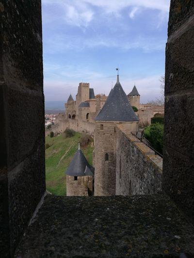 Una Vista de la Torre del Castillo de Carcassone desde la Muralla del Castillo