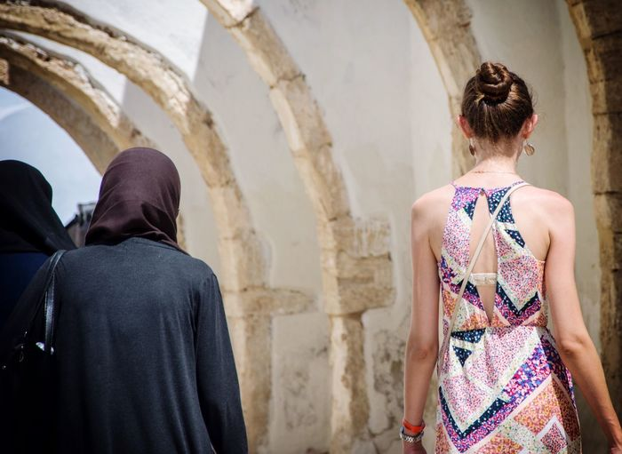 TakeoverContrast Contrast Tolerance Difference  Acceptance Djerba, Tunisia Focus On Foreground Religion Wear Women