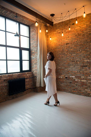 Linen Texture Adult Adults Only Beautiful Woman Beauty Casual Clothing Day Fashion Fashion Model Full Length Indoors  Linen One Person One Woman Only One Young Woman Only Only Women People Real People Standing Summer Fashion Textile Window Women Young Adult Young Women