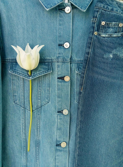 Close-Up Of Denim Clothes