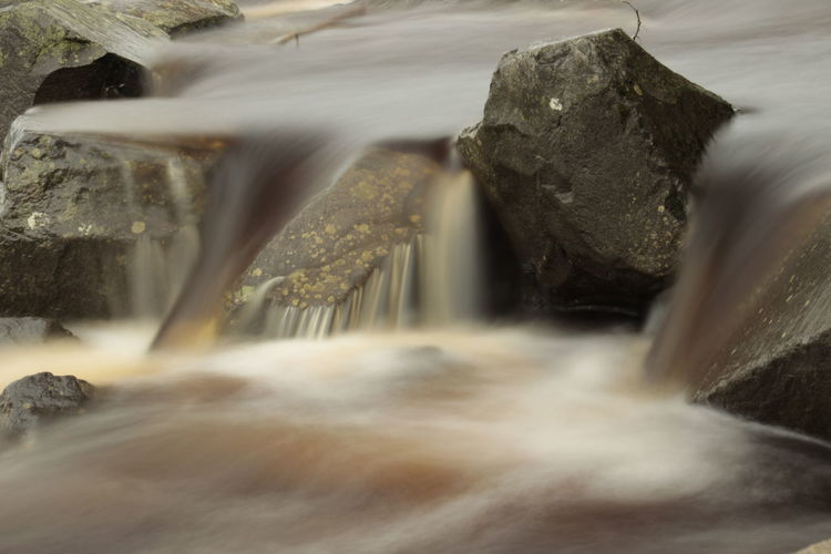 River Flowing Amidst Rocks