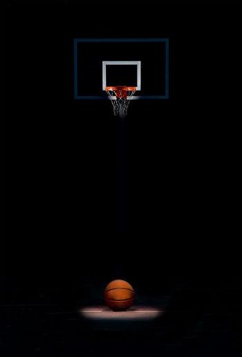 View of basketball hoop