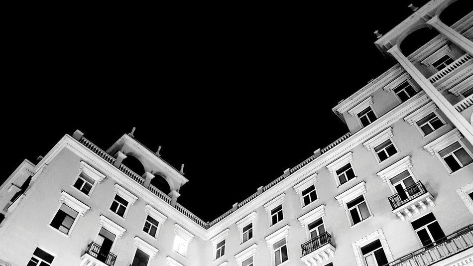 Buildings Architecture Architecture Photography Black And White Dark Light Light And Shadow Black Sky Geometric Shapes Geometry Geometric Abstraction Geometric Architecture Abstract Abstract Art Night Night Photography Street Photography Urban Photography Urban The Great Outdoors With Adobe Tbilisi My Favorite Photo Monochrome Photography Windows Dramatic Angles Welcome To Black