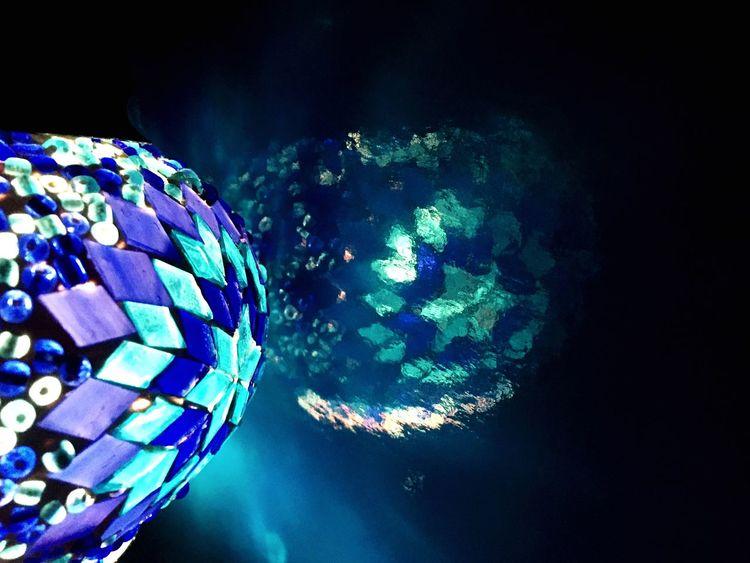 Cobalt Blue By Motorola Angles Reflection Turkish Lamp