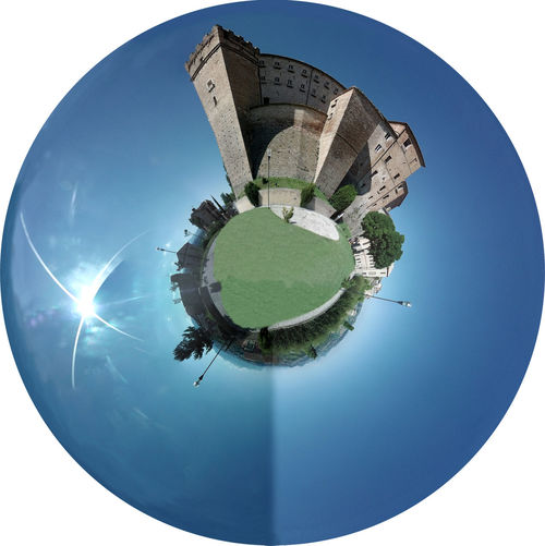 many photos together to fisheye Circle Day Distorted Image Fisheye Garden Photography Globe Grass No People Outdoors Ski Sphere Sun Tree First Eyeem Photo