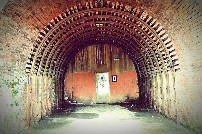 'D' for Disused Railway Arch The Arches Railway Bridge Railway Derelict Brick Arch Letter D Exit Door United Kingdom Nikon D3200