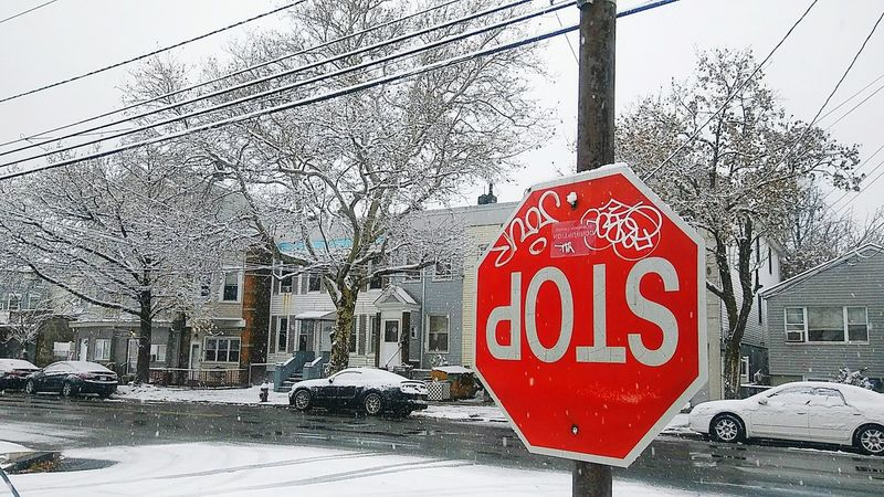 Even the Stop Sign seems pretty excited for the first Snow Day of the Season 🙃❄🌨🎄✨🗽 Shades Of Winter Stop Sign Taking Photos Eye4photography  EyeEm Gallery Snow ❄ Snow Day ❄ Winter Holiday Spirit❤ Holiday Season The Street Photographer - 2018 EyeEm Awards The Great Outdoors - 2018 EyeEm Awards The Still Life Photographer - 2018 EyeEm Awards The Traveler - 2018 EyeEm Awards The Creative - 2018 EyeEm Awards The Photojournalist - 2018 EyeEm Awards 10