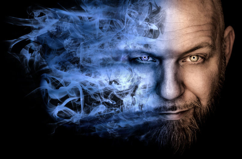 Adult Black Background Blue Smoke Bro Close-up Indoors  Looking At Camera Men One Man Only One Person Only Men People Portrait Smoke Smoke - Physical Structure Smoking Portraits Smoking Porttraits Studio Shot Yellow