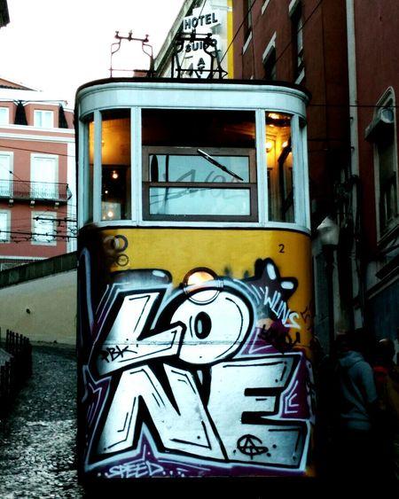 Lisboa Portugal Lisbon - Portugal Lisbon Lisboa Lisboa Streetphotography Lisboa Tram Tram Street Streetphotography Street Art Arteurbano Graffiti & Streetart Graffiti Train City Outdoors Tranquil Scene Scenics Travel Destinations