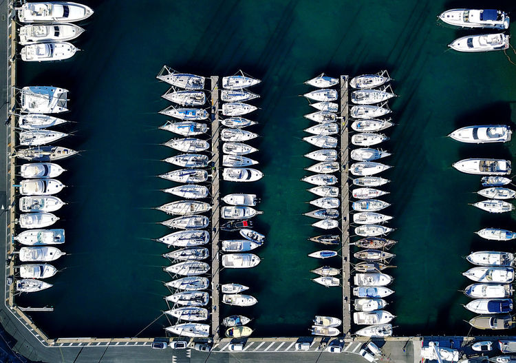 Aerial View Boats Côte D'Azur Day Dji DJI Mavic Pro Drone  Dronephotography Droneshot From The Top Harbour Port Saint Tropez Sea Top View Yacht Harbor Yachting First Eyeem Photo