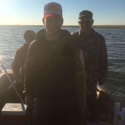 One happy chap Gone Fishing